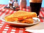 Grilled cheese sandwich; Coca Cola