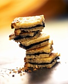 Truffle sandwiches in a pile