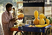 Papaya seller in India