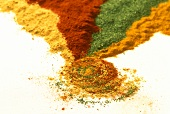 River of spices - paprika, curry etc