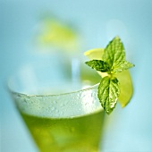 Cocktail with mint and lime