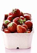 Strawberries in cardboard punnet