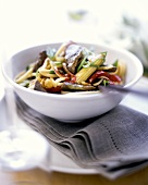 Chinese egg noodles with beef and vegetables