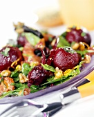 Beetroot salad with walnuts and pink grapefruit