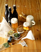 Beer with brewing ingredients