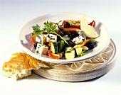 Turkish peasant's salad with sumak and sheep's cheese