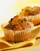 Muffins with kefir and pistachios