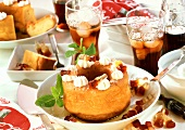 Coca-Cola savarin with cream rosettes