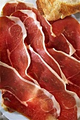Thinly sliced Ardennes ham