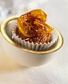 Small cake with candied kumquat