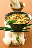 Asian vegetable stew with glass noodles