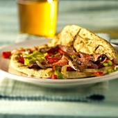 Fajita mit Rindfleisch und Paprika