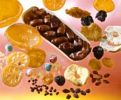 Various dried fruits and candied fruits