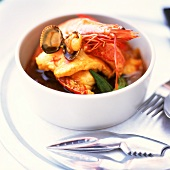 Thai fish and seafood stew with okra
