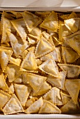 Home-made triangoli salmone (pasta envelopes with salmon)