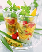 Summer vitamin punch with fresh mint