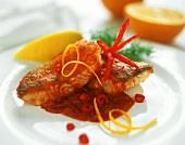 Spicily seasoned pike-perch fillets