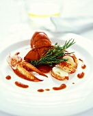 Provencal style lobster with tomato sauce and herbs