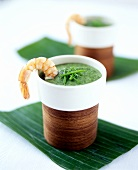 Calalou: green vegetable soup with shrimp (Creole)