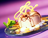 Gianduja savarin with mangos and yoghurt