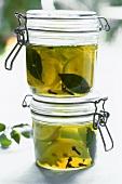 Pickled lemons in olive oil