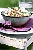 Potato and radish salad with quark and chives