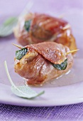 Saltimbocca ad involtino (Veal escalopes with sage, Italy)