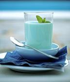 Milkshake with mint