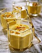 Saffron yoghurt with mango