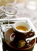 Caffè e grappa (Espresso and grappa, Italy)