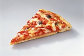 Eighth of a pizza with tomatoes, cheese and olives