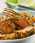 Lamb chops with herb and sunflower seed crust