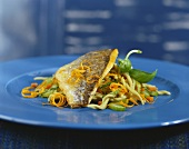 Gilthead bream with orange and basil vinaigrette and celery