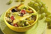 Rice salad with fresh fruit