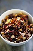 Dry fruit tea in small bowl