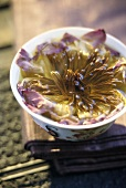 Chinese water lily tea in small bowl