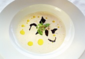 Oyster soup with truffles