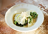 Ravioli con gli spinach (Ravioli with spinach & Parmesan)