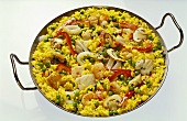 Paella in the Pan