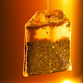 Red bush and vanilla tea in tea bag