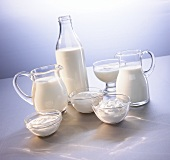 Various dairy products (milk, quark, kefir etc)