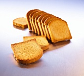 Zwieback (rusks, at an angle and single slices)