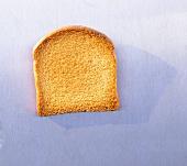 One slice of zwieback (rusk)