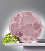 Ham sausage, sliced