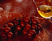 Cherry ragout with couverture and cocoa; white wine