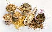 Various types of cereals and rolled oats