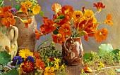 Stillleben mit verschiedenen Essblüten