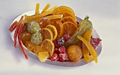 Candied fruit in a bowl