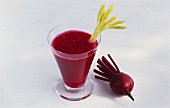 Beetroot juice with celery
