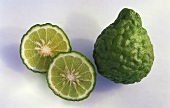 Kaffir lime, whole and halved